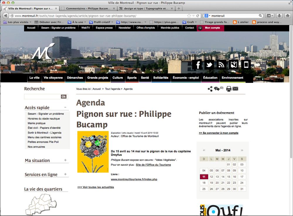 Site web ville de Montreuil Philippe Bucamp